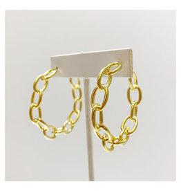 Virtue Jewelry Virtue Jewelry Chain Link Hoop Gold