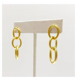 Virtue Jewelry Virtue Jewelry Triple Link Hoop Post