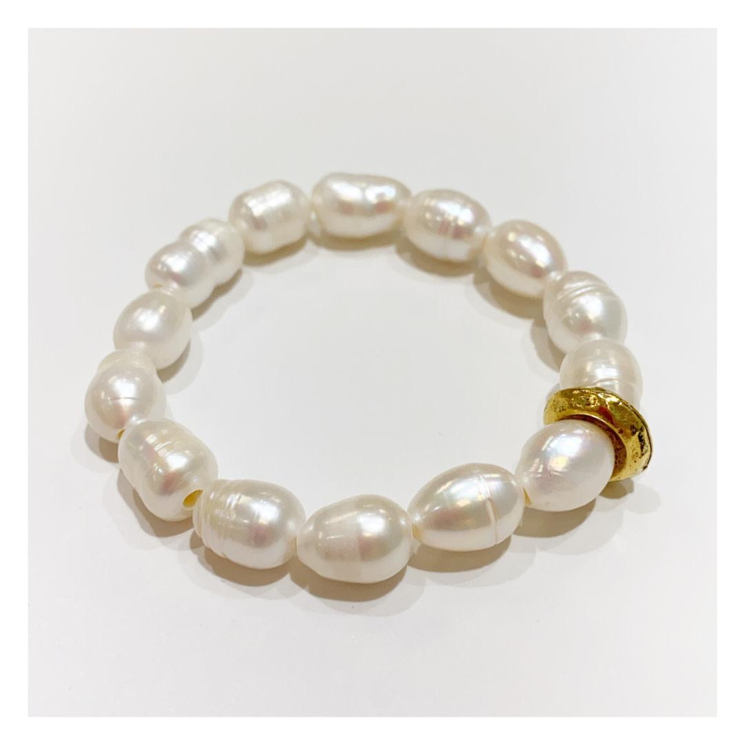 Virtue Jewelry Virtue Jewelry Pearl Stretch Bracelet