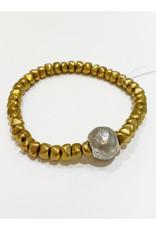 Virtue Jewelry Virtue Jewelry Nugget Bracelet Gold