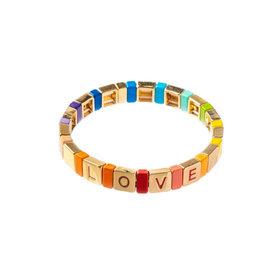 Caryn Lawn Caryn Lawn Tile Bracelet Love Rainbow