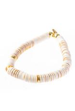 Caryn Lawn Caryn Lawn Thick Disc Bracelet White