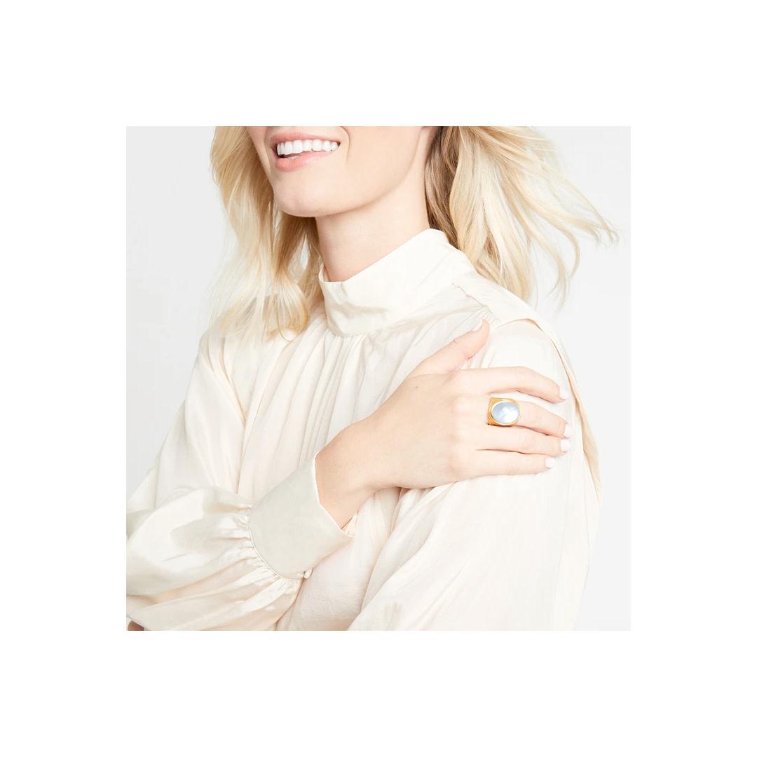 Julie Vos Julie Vos Verona Ring Iridescent Lavendar 7