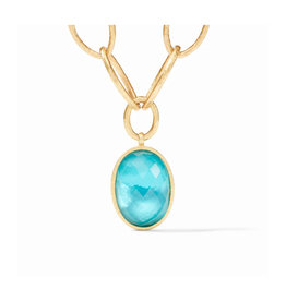 Julie Vos Julie Vos Fleur Necklace Bahamian Blue