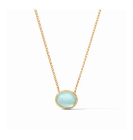 Julie Vos Julie Vos Verona Solitaire Necklace Bahamian Blue