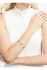 Julie Vos Julie Vos Milano Luxe Bangle Clear Crystal Med