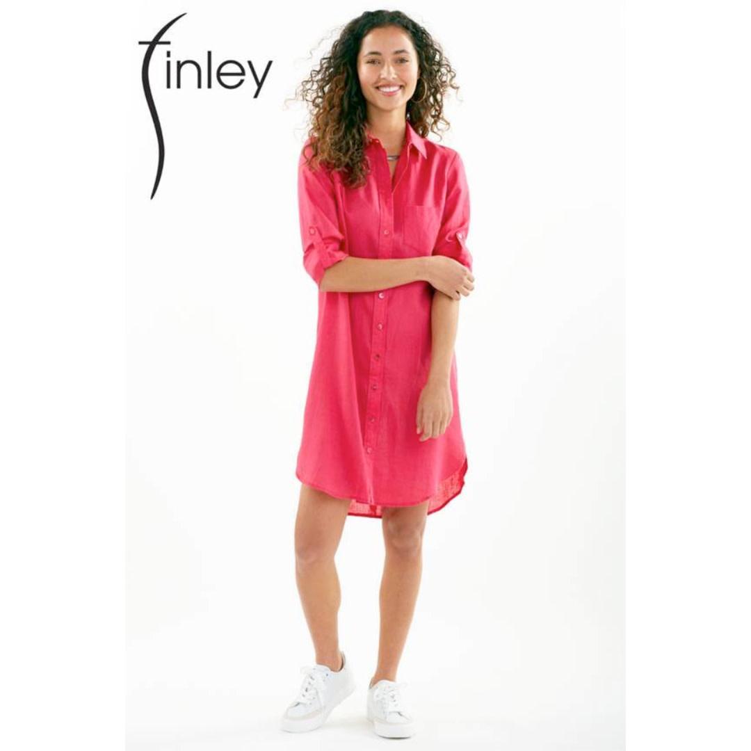 Finley Finley Alex Linen Shirtdress