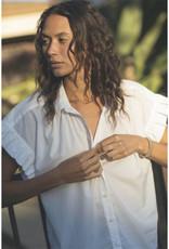 Trovata Birds of Paradis TROVATA Marianne Ruffle Sleeve Shirt