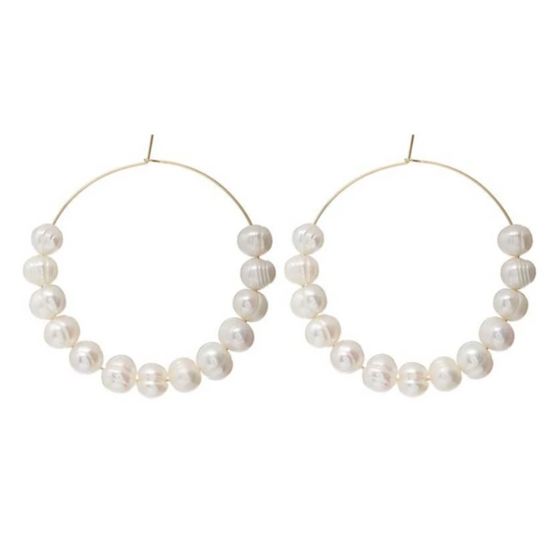 Accessory Concierge AC Jewelry Pretty In Pearl Hoops