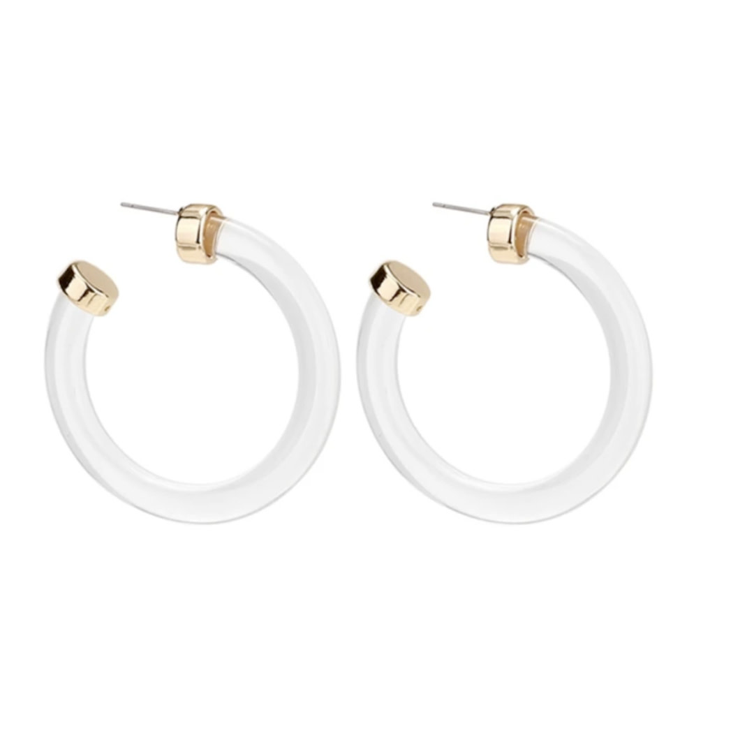Accessory Concierge AC Jewelry Clear Harper Hoops