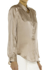 L'AGENCE L'AGENCE Bianca Band Collar Blouse