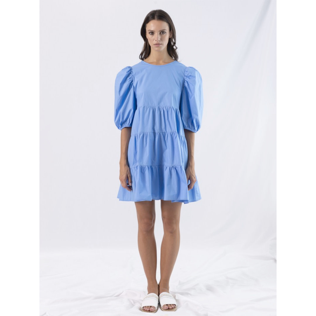 Anonyme Anonyme Nadine Balloon Sleeves Ruffle Short Dress