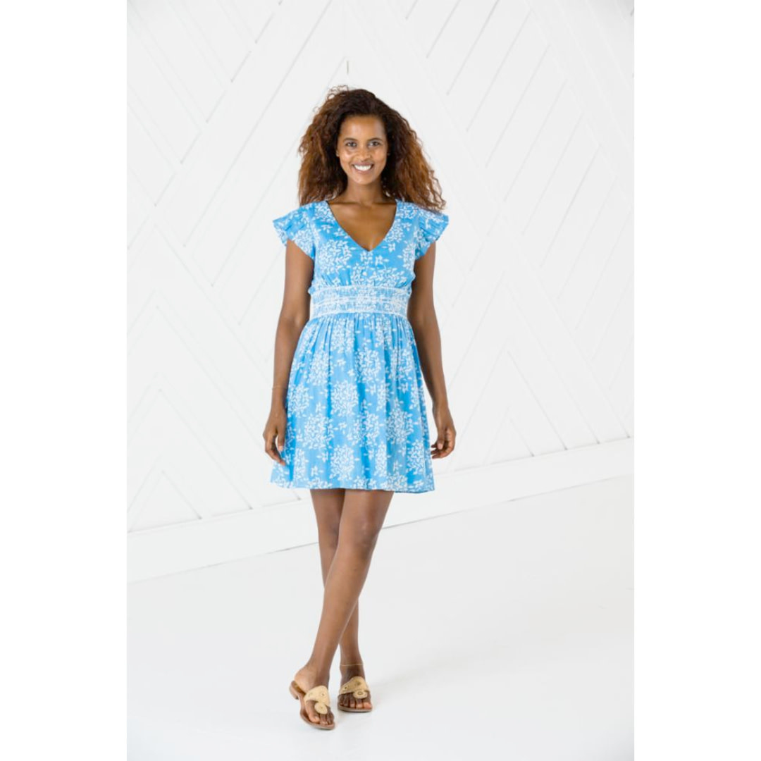 Sail to Sable Sail to Sable Short Sleeve Flutter Dress