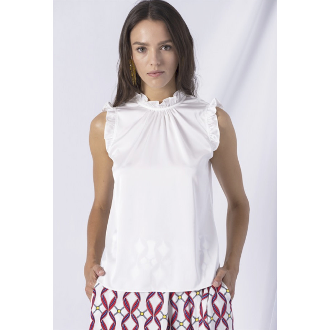 Anonyme Anonyme Sleeveless Ruffle Top