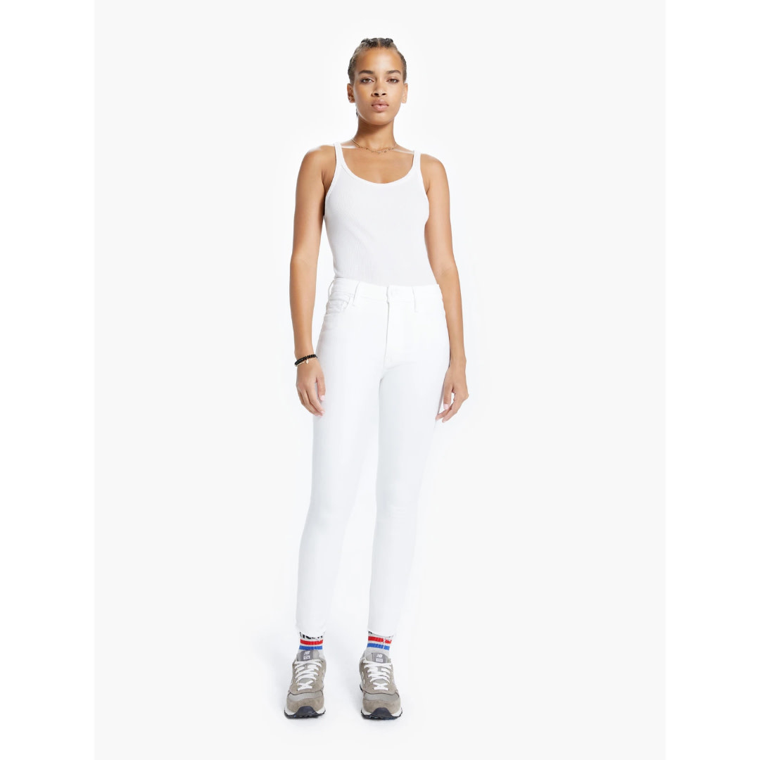 Mother Mother High Waisted Looker Ankle Fray