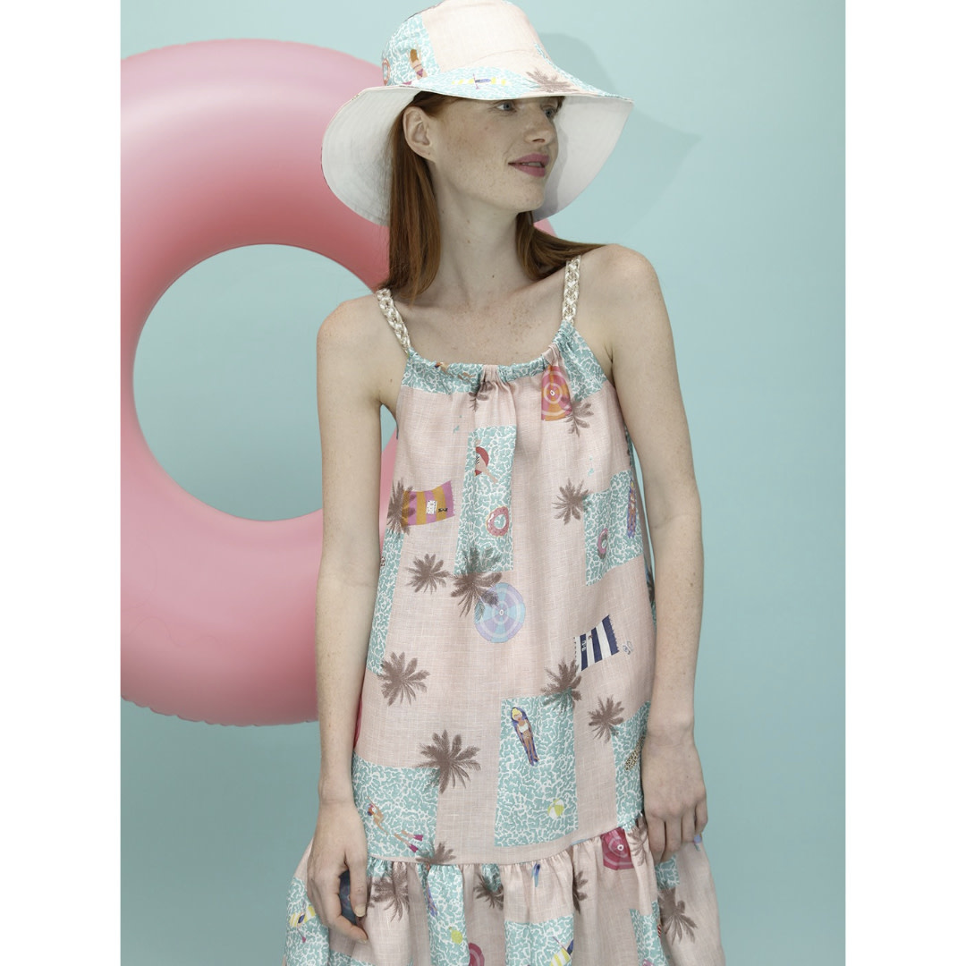 Vilagallo Vilagallo Pastel Swirl Dress