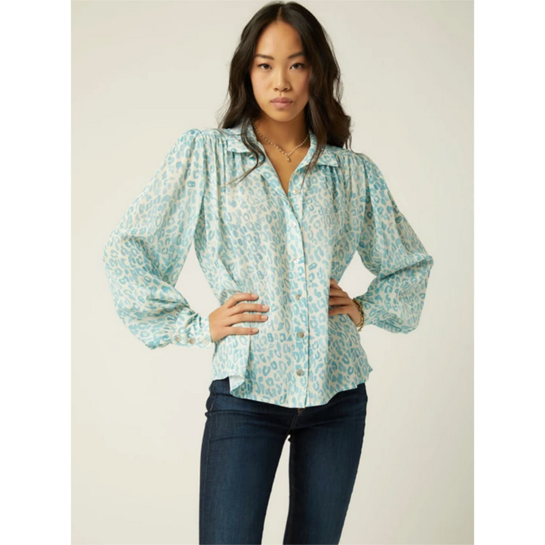 Fifteen Twenty Fifteen Twenty Shirred Button-Up Blouse