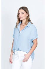 Dylan Dylan Gauze SS Button Up