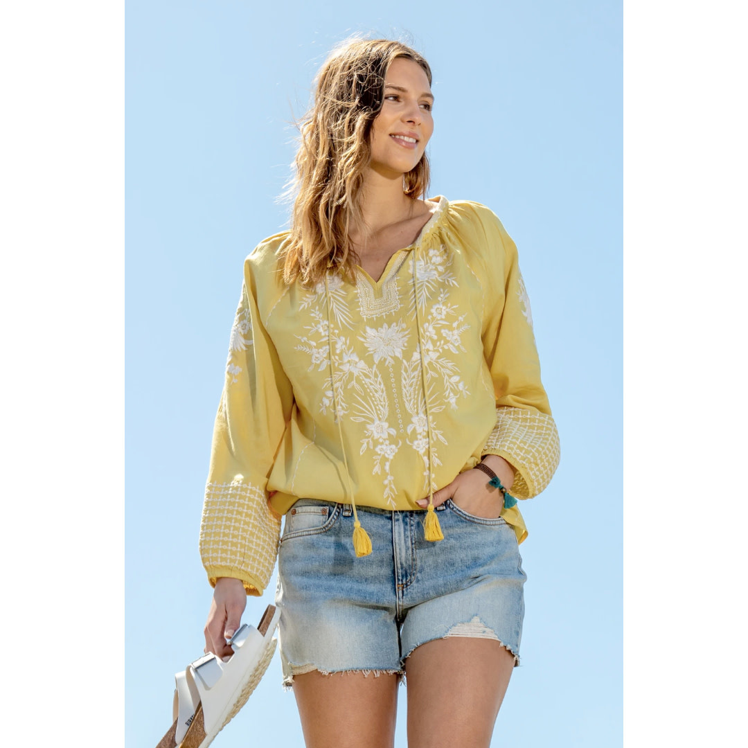 Dylan Dylan Blair Embroidered Blouse
