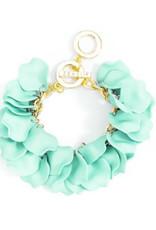Zenzii Zenzii Painted Petals Bracelet Mint