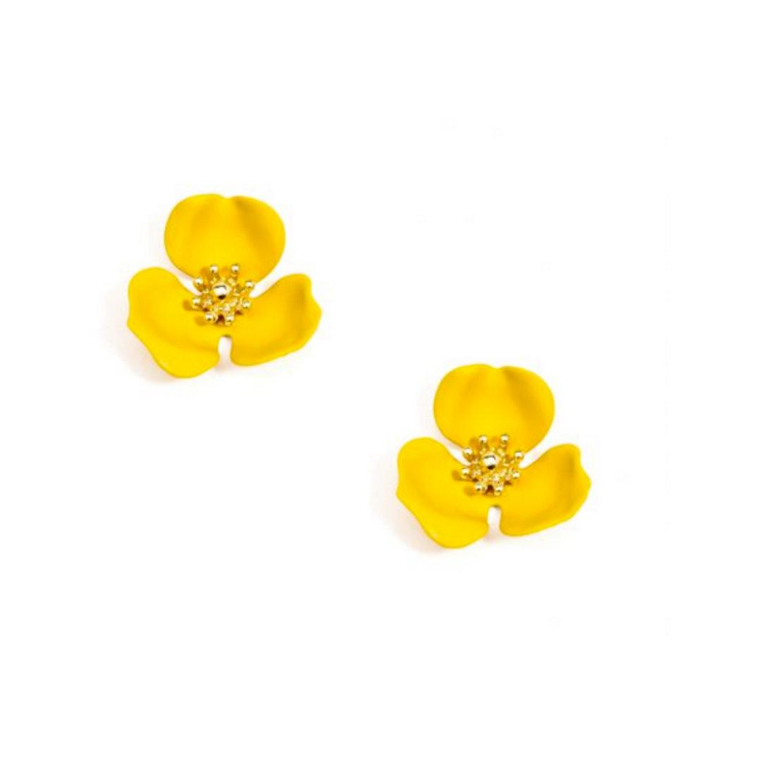 Zenzii Zenzii Blooming Lotus Stud Earring Honey