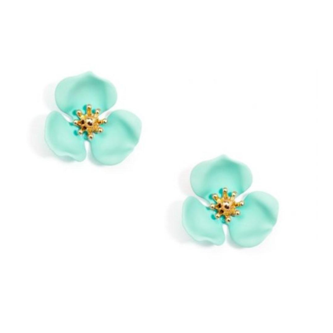 Zenzii Zenzii Blooming Lotus Stud Earring Mint