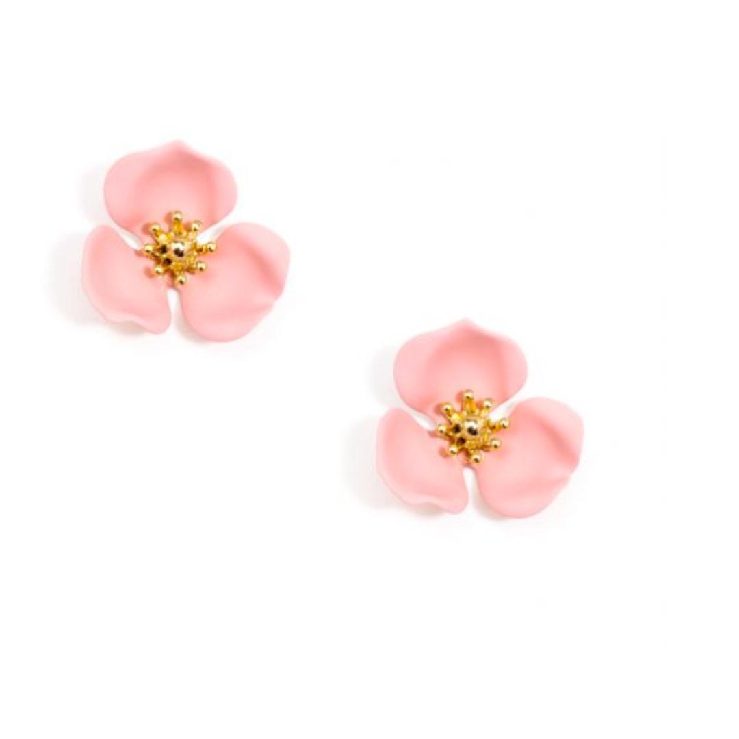 Zenzii Zenzii Blooming Lotus Stud Earring Peach