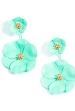 Zenzii Zenzii Flower Power Drop Earring Mint