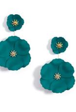 Zenzii Zenzii Flower Power Drop Earring Teal