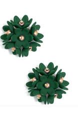 Zenzii Zenzii Petite Petals Stud Earring Emerald