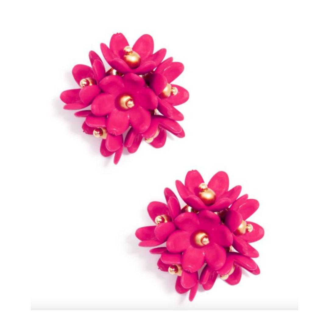 Zenzii Zenzii Petite Petals Stud Earring Hot Pink
