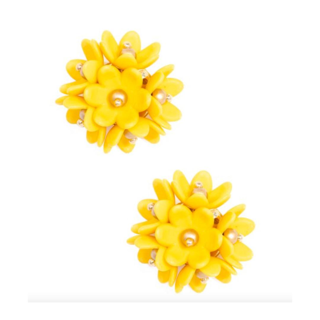 Zenzii Zenzii Petite Petals Stud Earring Yellow