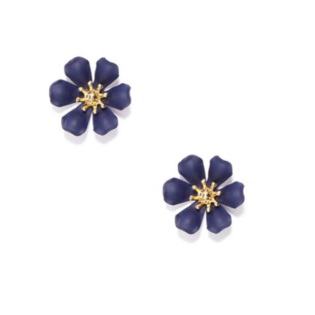 Zenzii Zenzii Refined Lily Stud Earring Navy