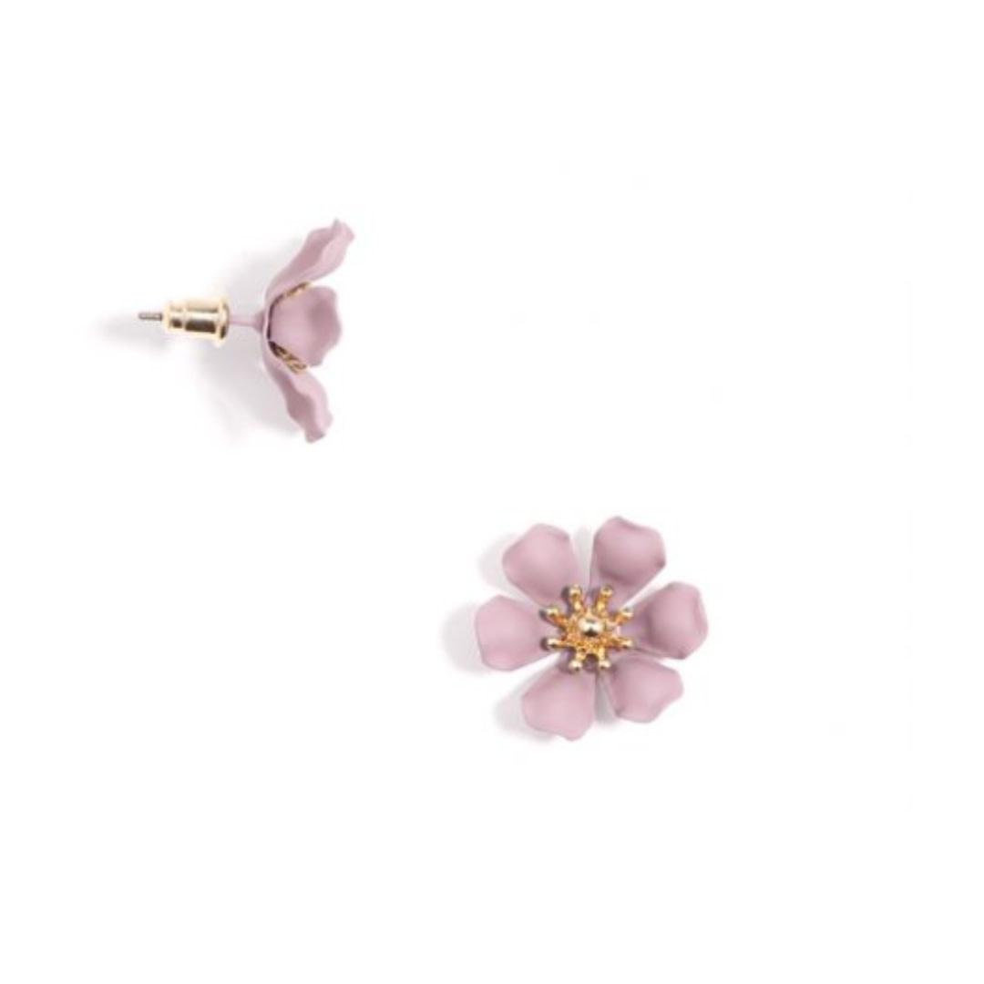 Zenzii Zenzii Refined Lily Stud Earring Rose