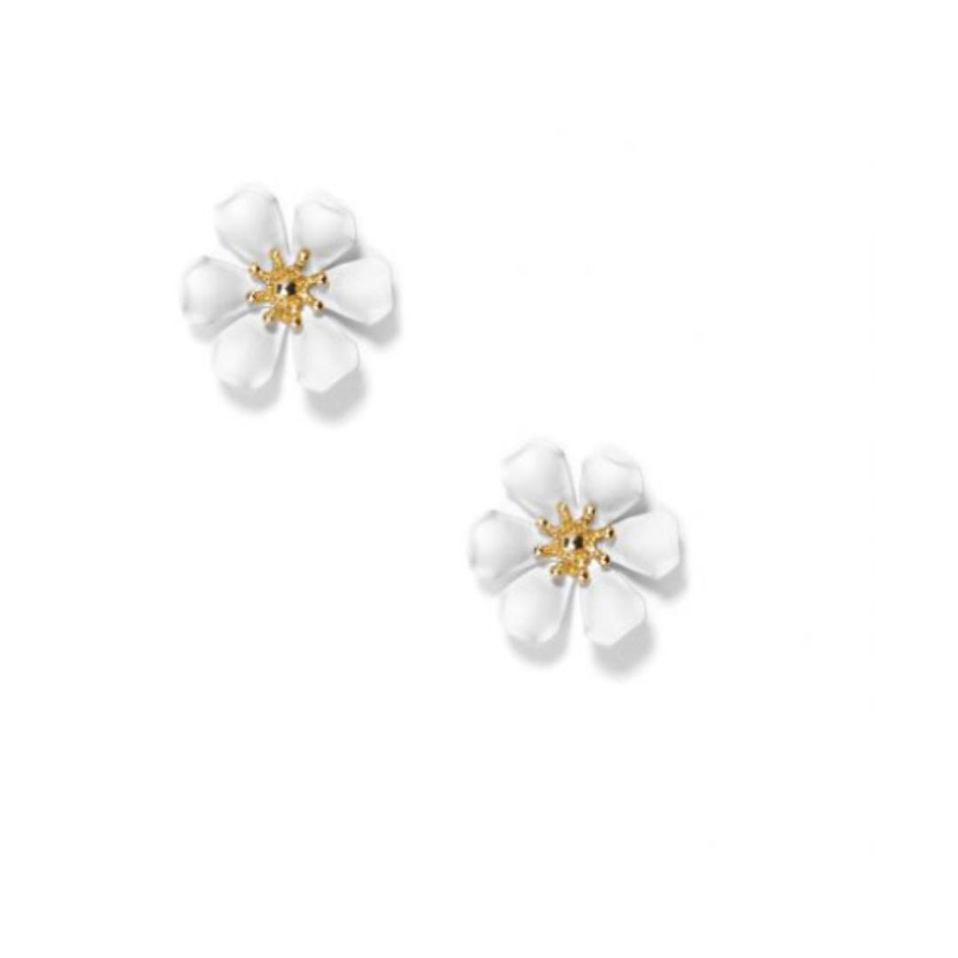 Zenzii Zenzii Refined Lily Stud Earring White