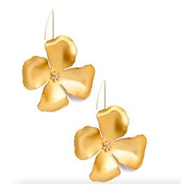 Zenzii Zenzii Threader Pull-Through Earring Metallic Gold