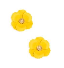 Zenzii Zenzii Metal Floral Stud Earring Yellow