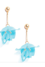 Zenzii Zenzii Sheer Resin Petal Drop Earring Blue