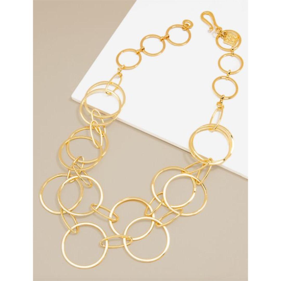 Zenzii Zenzii Shiny Circle Short Necklace Gold