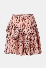 Milly Milly Heidi Metallic Leopard Stripe Burnout Skirt