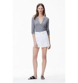 Citizens of Humanity Citizens of Humanity Distressed White Cut Off Mini Skirt