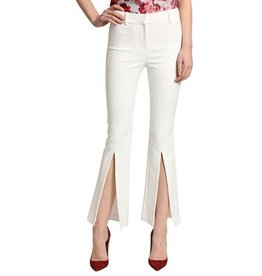 Badgley Mischka Badgley Mischka Cropped Flare Slit Pant