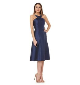 Kay Unger Fit & Flare Halter Dress