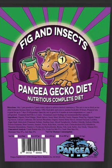 Pangea Diète complète de figue et insectes pour gecko - Gecko Diet Fig & Insects Complete