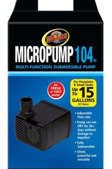Zoomed Pompe submersible 30 à 60 GPH / Micro Pump 104
