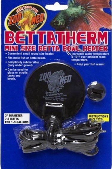 Zoomed Chauffe-eau pour mini bol Betta - bettatherm mini size bowl heater