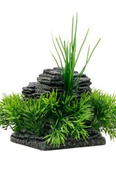 Fluval Ornement formation rocheuse et herbe