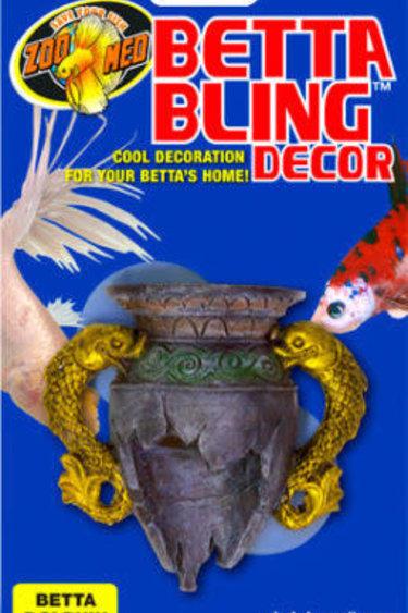 Zoomed Betta décoration vase dauphin  Betta Bling™ Decor – Dolphin Vase