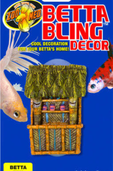 Zoomed Betta bling decoration tiki bar - Betta Bling™ Decor – Tiki Bar