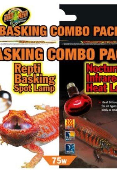 Zoomed Ensemble combiné d'ampoules chauffantes jour et nuit 75 watts / Basking combo pack